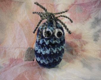 Karl Yarnstones Crocheted Amigurumi with name tag