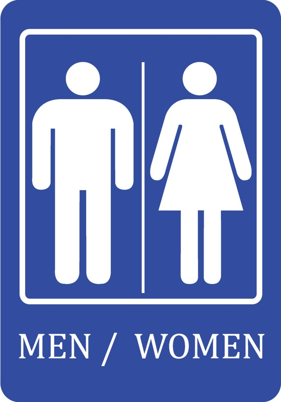 Men And Women Bathroom Sign Cool Blue Men  Women Bathroom Sign Quality Sign Plastic Outdoor Inspiration Design