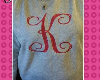 Personalized/monogrammed women's sweatshirt