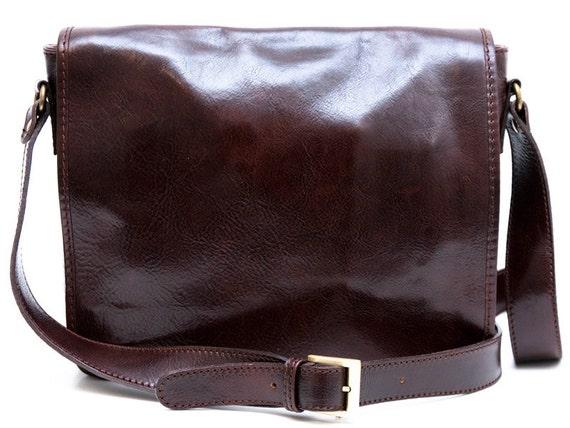 Original Leather Shoulder Bag Handbag Ladies Women BROWN Real Messenger Satchel   EBay