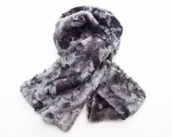 Grey Fur Scarf