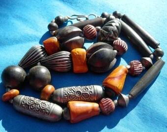 SALE! Vintage Necklace ETHNIC TRIBAL Beads!
