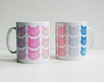 Cat lovers coffee mug, gift for her, homeware kitchen gift, crazy cat lady mug, cat mug, coffee drinker gift, best office mugs, mug ideas.