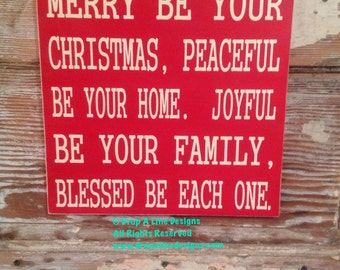 Merry Be Your Christmas Sign  12x12