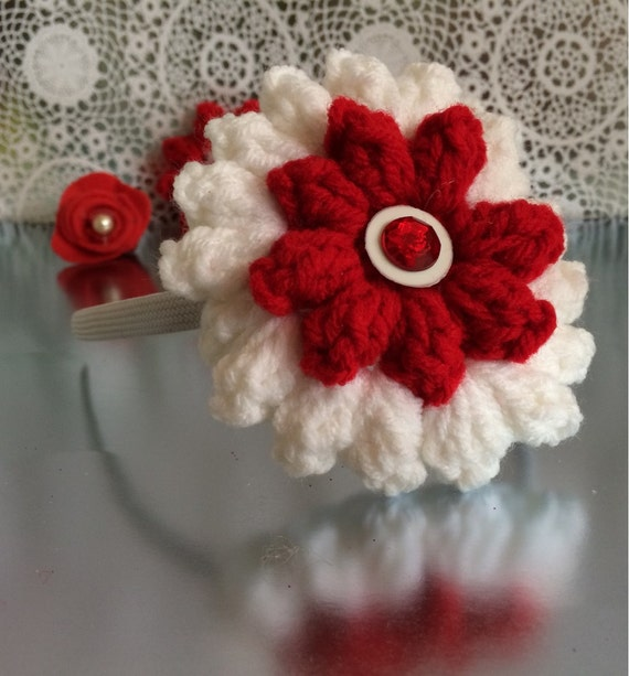 Interchangeable Crochet Flower Pattern : Crocheted interchangeable flower headband sets.