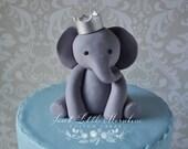 Baby Boy Elephant Cake Topper.