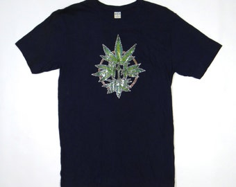 Vintage 70s MARIHUANA Shirt Stoner Cocaine Pot Metal Punk Hip Hop Drugs Political