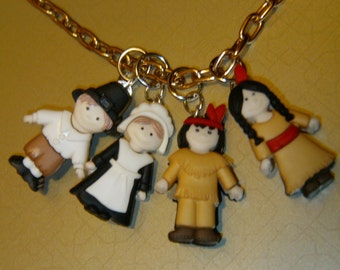 The First Thanksgiving Characters Necklace