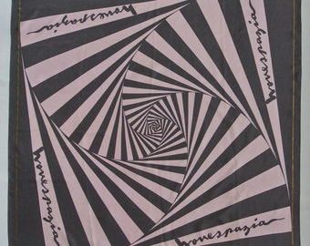 NOVESPAZIO Geometric Abstract Pattern Silk Scarf 38