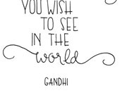 Printable art - Gandhi