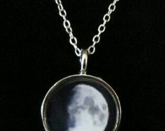 Personalized Moon Phase Necklace- Moon Phase Pendant Only