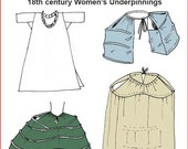 RC832 - 18th Century Women's Underpinnings Sewing Pattern by Reconstructing History