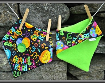 Happy Birthday! Bandanna Baby Bib