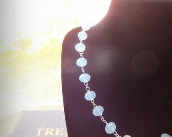 Elegant Glass Bead Necklace