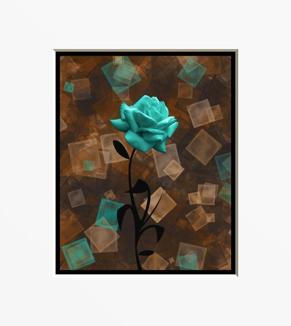 turquoise brown floral wall art by littlepiephotoart on etsy. Black Bedroom Furniture Sets. Home Design Ideas