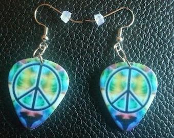 Peace Pick Earrings