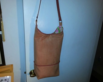 Large handmade bucket bag