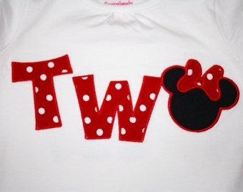 TWO Embroidered Shirt or Onesie