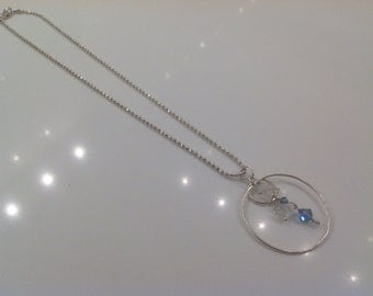 Delicate Necklace with Crystals