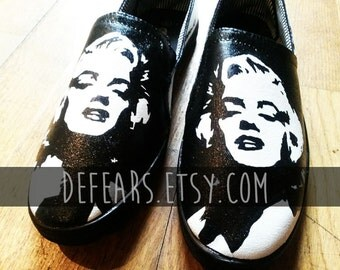 Marilyn Monroe - Hand Painted Shoes