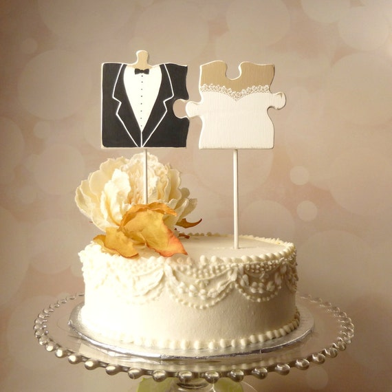 wedding cake pieces puzzle wedding cake topper mr and mrs cake topper 23455