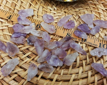 Amethyst Points ~ 2 small Reiki infused rough crystals