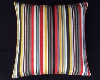 "Paul Smith Ottoman Stripe - Brass- by Maharam - 17""x17""  Pillow - includes feather insert"