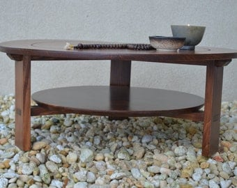 Round Maple Meditation Altar