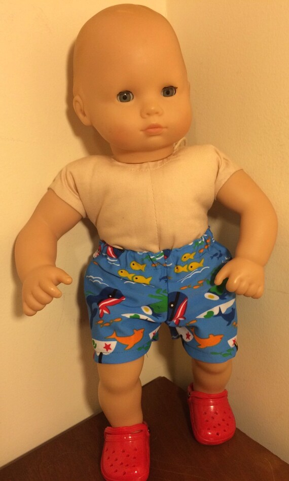 Blue Nautical Swimsuit and Shoes for Boy Bitty Baby Doll 15