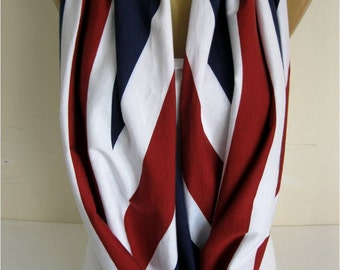 SALE ! Infinity Scarf -England flag- Circle Scarf Loop Scarf gift Ideas For Her Women's Scarves- gift- for her -Fashion accessories