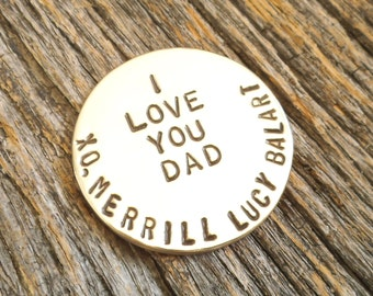 Father's Day Gift Golf Gift for Dad Personalized Golf Fathers Day Gift Husband Golfer Personalized Ball Marker Father's Day Golf Ball Marker