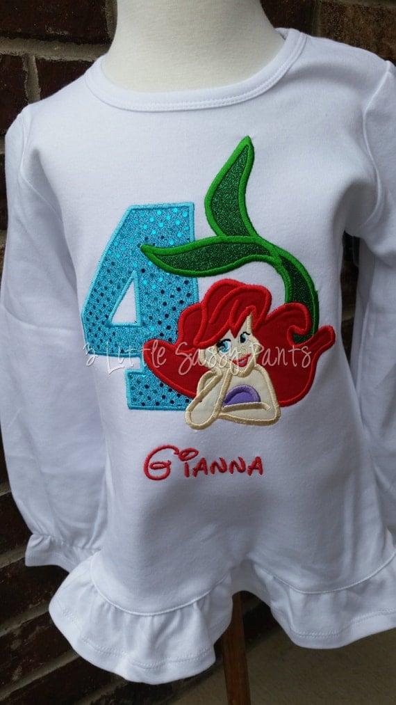 Image Result For Little Mermaid Birthday Shirt