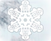 Star Wars Snowflake Window Cling Decals: Set #4