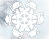 Star Wars Snowflake Window Cling Decals: Set #5