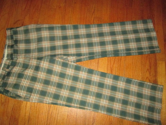Mens ugly xmas vintage 70s Plaid Pants party by justbelieve3