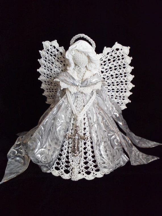 Crochet Angel : Crocheted Angel Holiday angel Angels Crafts by AngelsandTreasures