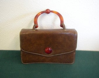 Plastic handle purse, great condition, probably from  1950's