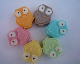 novelty owl mini soaps x 6