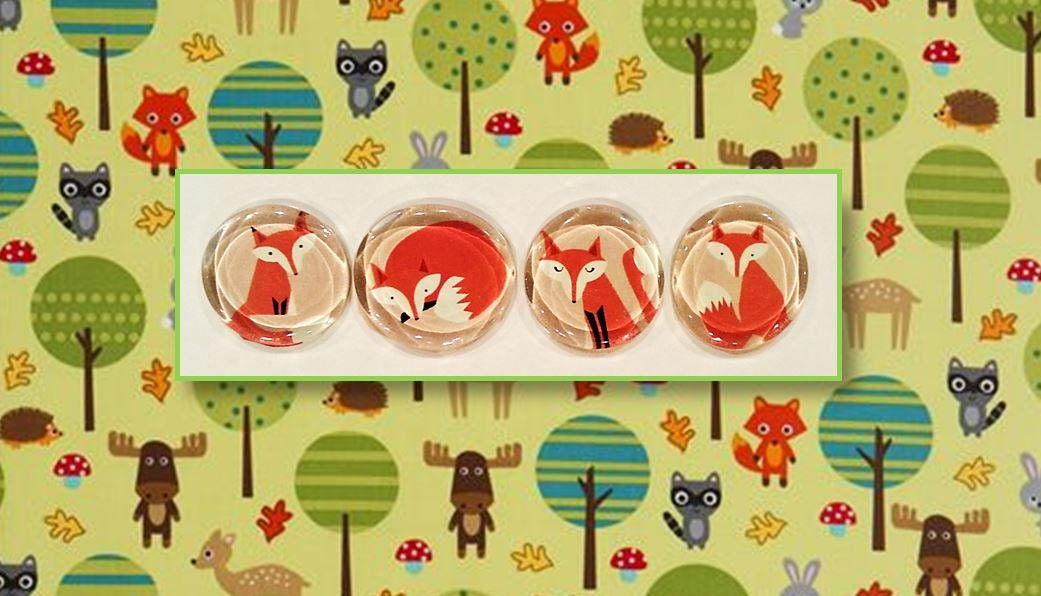fox magnets fox baby shower favor woodland by loveinthecityshop