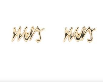 MRS Bride Bridal Wedding Honeymoon Say Yes Engagement Earrings Gold Or Silver ~ Mrs
