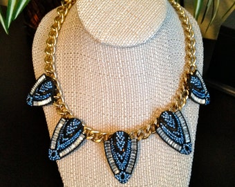 CLEARANCE // Egyptian Crystal Spike Statement Necklace