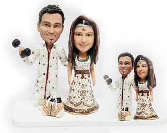Beautiful Personalised India wedding topper (Free shipping)