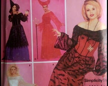 Simplicity Costumes 0629  Malificent Elvira With Angel Adult Halloween  Size (6-12)  UNCUT