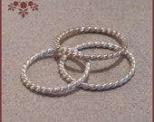 Twisted Sterling Silver Stacking Rings