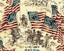 US Military Army Cavalry Patriotic American Flag Fabric Lamp Shade (10 Sizes to Choose From!)