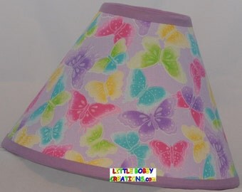 Butterfly Fabric Lamp Shade (10 Sizes to Choose From)