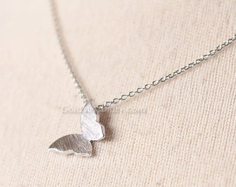 Silver ButterFly Necklace / butterfly necklace / silver necklace