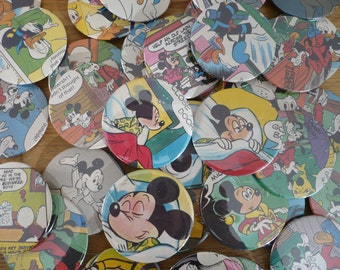 5 Handmade Disney Pin Back Button Badges 5.8cm