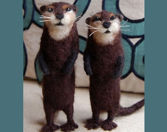 Needle Felted Miniature Otter