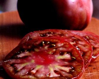 50 - Black Tomato Seeds, Russian Black Krim, Black Tomatoes, Russian Tomatoes, Russian Krim Tomato Seeds, Non-GMO Heirloom Tomato Seeds
